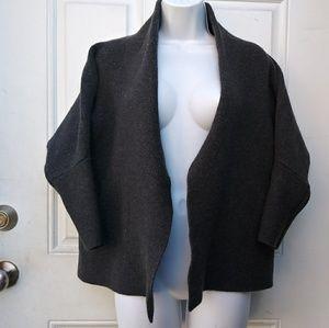 M.M. LAFLEUR Open Front Sweater Jacket 100%Wool Kn